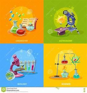 Scientific Disciplines Colorful Concept Cartoon Vector