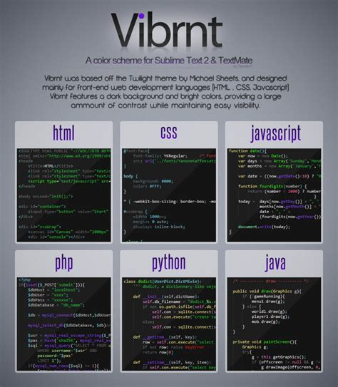 sublime color schemes vibrnt sublime text 2 color scheme by gpow69 on deviantart