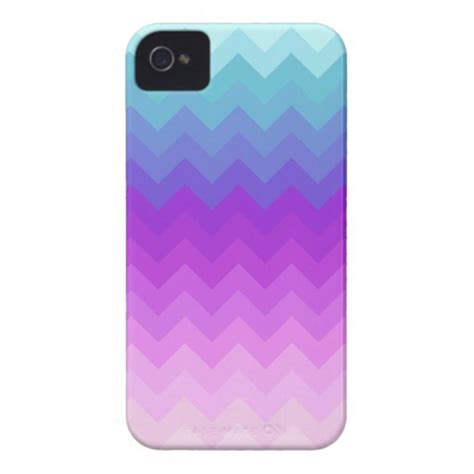 iphone 4 cases for pastel ombre chevron pattern iphone 4 mate cases zazzle