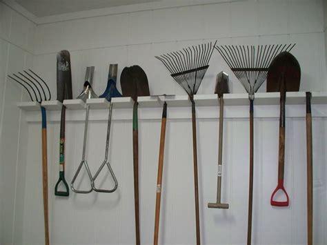 garden tool organization for the garage garage