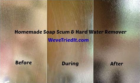 how to remove soap scum and water stains water