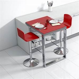 Table Pour Petite Cuisine : table de cuisine d 39 appoint en verre fixation plan de ~ Dailycaller-alerts.com Idées de Décoration