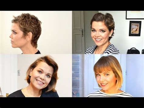 Hairstyles While Growing Out Pixie Cut by My One Year Hair Growth After Buzz Cut 12 Months Doovi