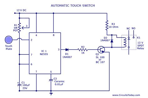 Touch Switch Circuit Diagram Using