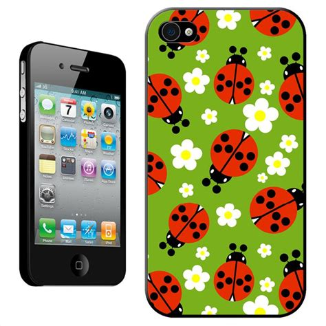 tiny iphone tiny spotted decliate ladybugs amoungst white