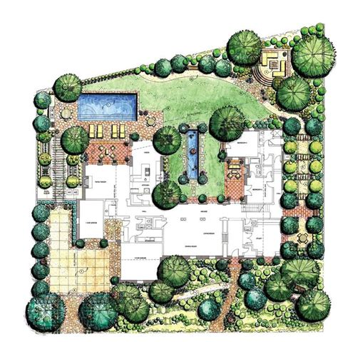 907 best landscape plan rendering images on