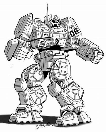 Coloring Pages Wheels Robot Future Soldier Robots