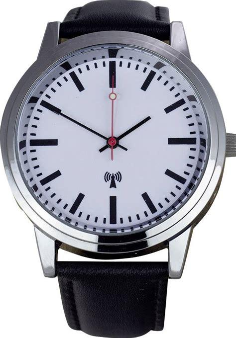 montre bracelet radiopilotee style horloge de gare eurotime funk armbanduhr bahnhofsminuterie