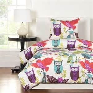 crayola owl always love you comforter set blanket warehouse