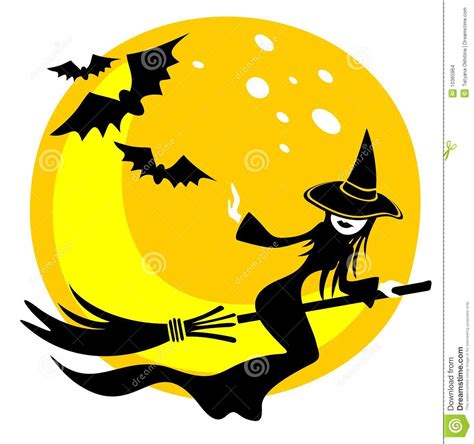 witch  moon stock images image