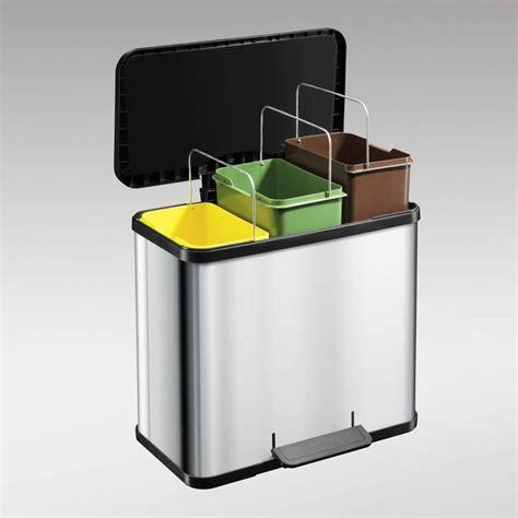 poubelle de cuisine tri selectif 3 bacs cuisine idées