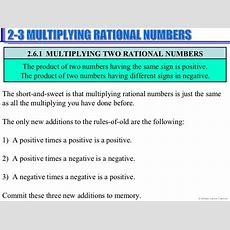 Multiplydivide Rational Numbers  Unit 1  Number Sense