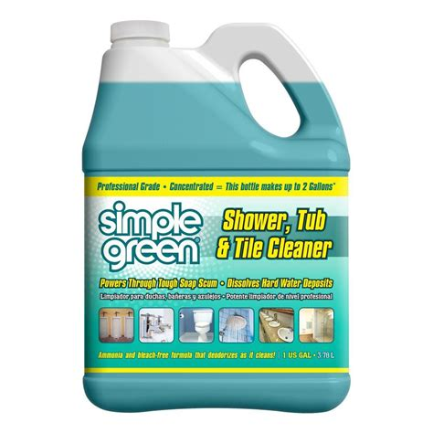 simple green 1 gal pro grade shower tub and tile cleaner