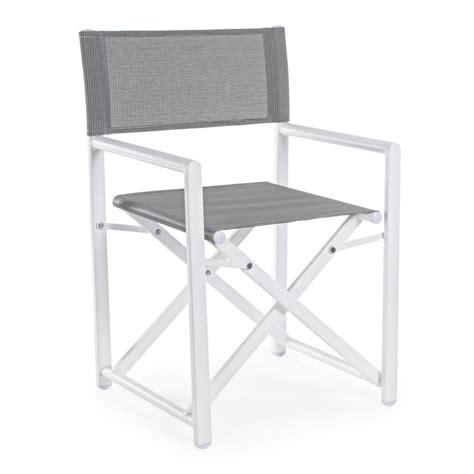 sedie regista alluminio sedia regista alluminio da esterno colore grigio brigros