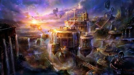fantasy city fantasy abstract background wallpapers