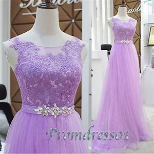 Prom Dress Project — 2015 light purple lace tulle prom dress