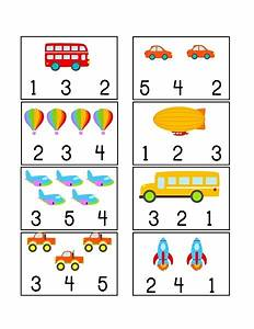 vehicles themed counting printables (2) « funnycrafts