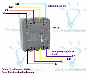 3 Pole - 4 Pole Mccb Wiring Diagrams And Installation