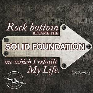 17 Best images ... Rock Foundation Quotes