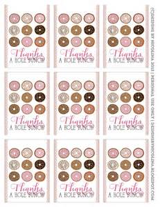 Free Printable Donut Thank You Tags