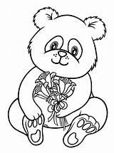 Coloring Cute Panda Pages Baby Pandas Popular sketch template