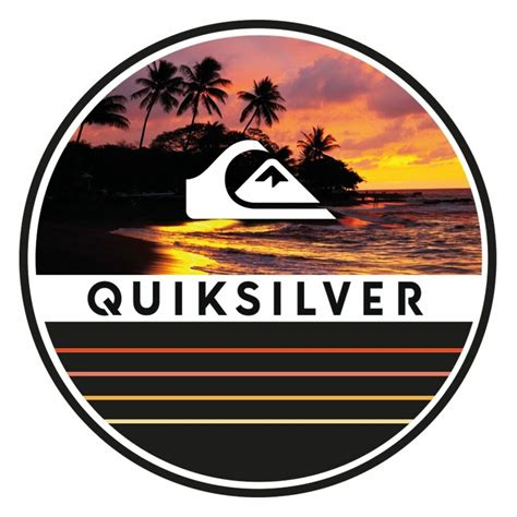 Tshirt Quiksilver Logo White quiksilver logo decal stickers skateboard clothing ski