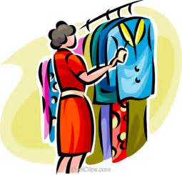 Woman Clothes Shopping Clip Art