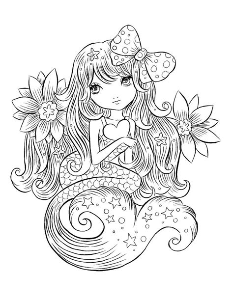 pin  nicole brinston  artcoloring pages mermaid