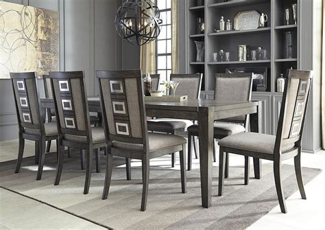 mission style dining room set furniture outlet chicago llc chicago il chadoni gray