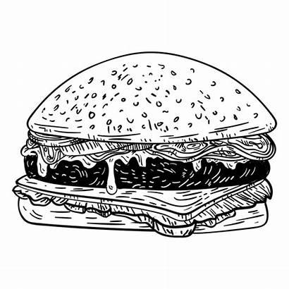 Hamburger Burger Sketch Hamburguesa Svg Transparent Dibujo