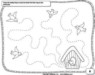 pre writing skills preschool worksheet kidssoup 608 | wavyline prewriting skills