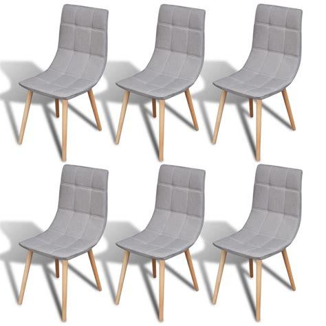6 chaises de salle a manger la boutique en ligne 6 pcs chaise de salle à manger gris