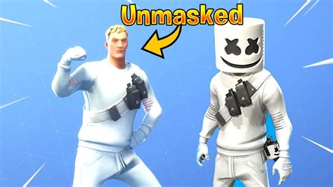 removed  mask  fortnite skin marshmello youtube
