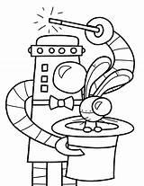 Coloring Robot Robots Robotic sketch template