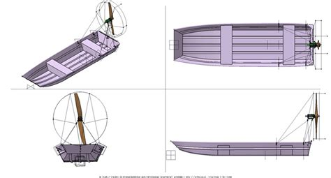 Airboat Drawings by For Sailor Airboat Plans