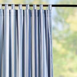 tab top semi opaque outdoor curtain panels nautical blue