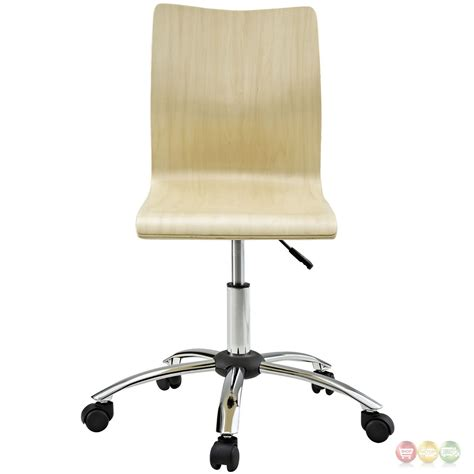 fashion modern adjustable armless wood panel office chair