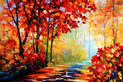 Oil Autumn Painting Fall Desktop Paintings Poster