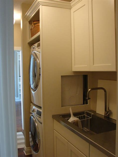woodharbor cabinets cedar rapids 103 best images about stacking washer dryer on