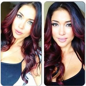Ombré Hair Rouge : best 25 burgundy hair highlights ideas on pinterest ~ Melissatoandfro.com Idées de Décoration