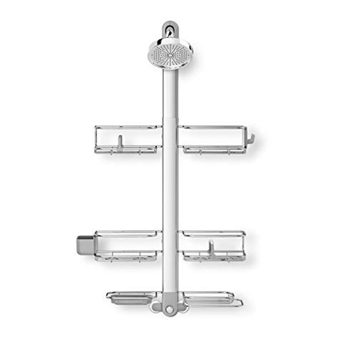 4334 adjustable shower caddy simplehuman adjustable shower caddy xl with extendable