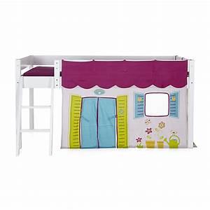 Lit Enfant Mi Haut : tente pour lit enfant mi haut 90x190 ou 90x200cm ~ Premium-room.com Idées de Décoration