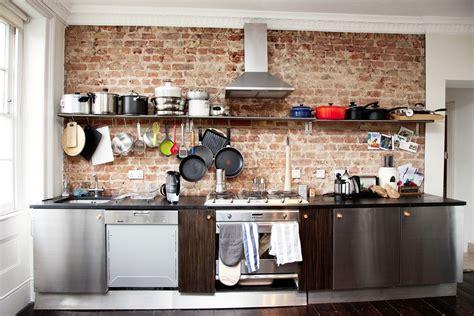cuisine mur en idées de conception des murs de cuisine en briques