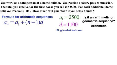 Arithmetic Sequence Real Life Salary Youtube
