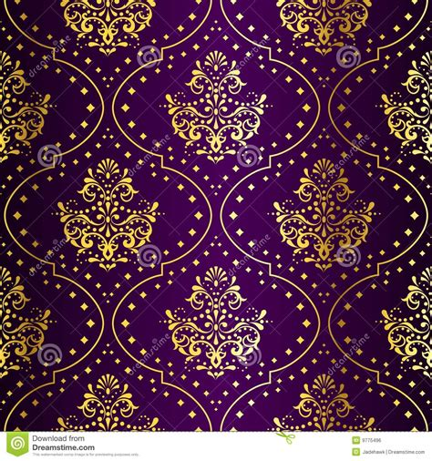 intricate gold  purple seamless sari pattern royalty