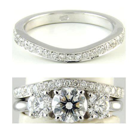 wishbone wedding band to fit around trilogy diamond