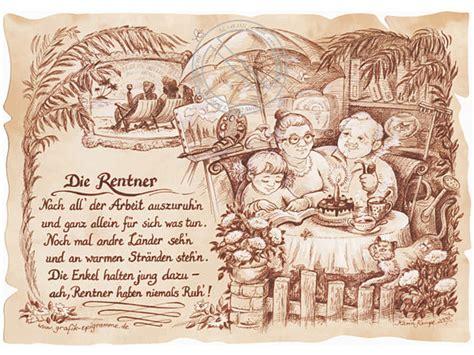 zunftbild rentner auf antikpapier im  format geschenke