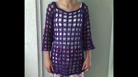 blusa calada parte 2 de 3 en crochet youtube