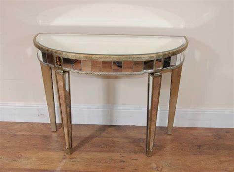 table cuisine demi lune deco mirrored console table demi lune tables