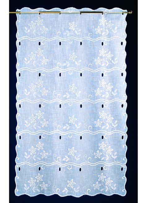 voilage brise bise en 233 tamine brod 233 e floral blanc homemaison vente en ligne voilages brise